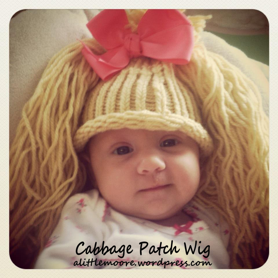 Knitting Pattern For Cabbage Patch Hat : Cabbage Patch Wig