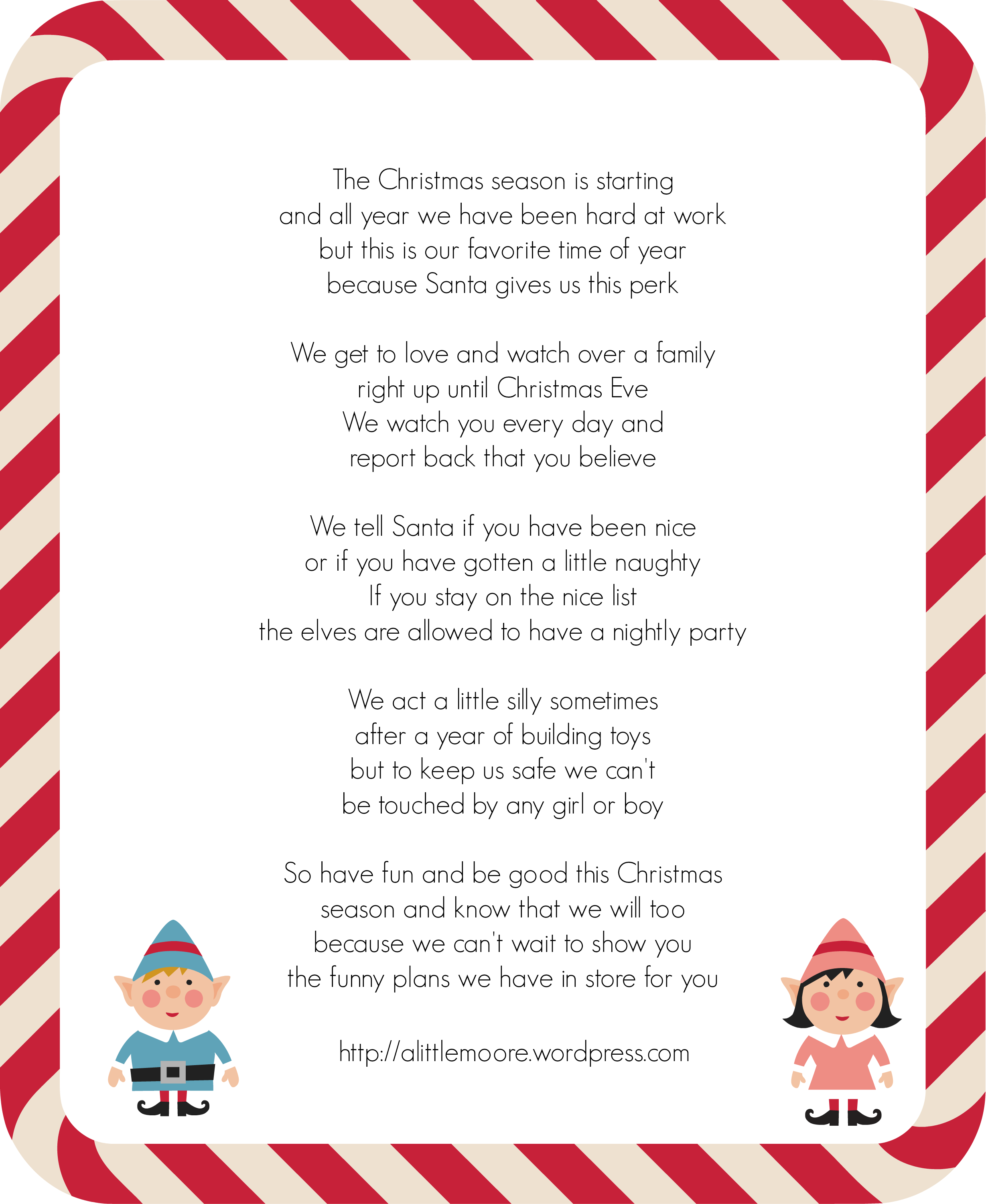 Elf On The Shelf Welcome Letter - A Little Moore