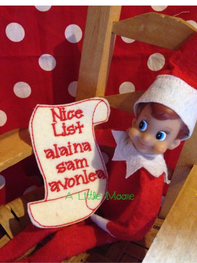 elf on the shelf the nice list