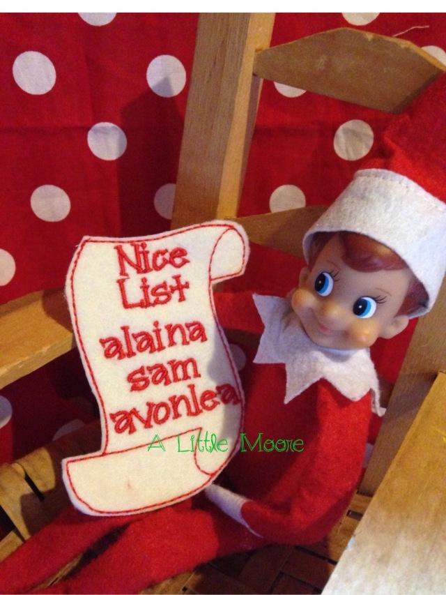 elf on the shelf the nice list